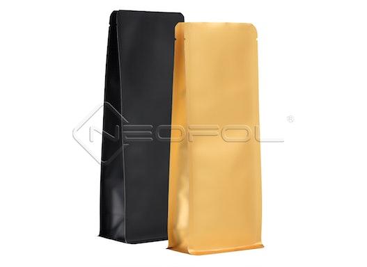 BOXpack® Flachbodenbeutel OPPmatt/PET/AL/PE