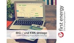 Abwicklung zur Abrechnung von EEG-/ und KWK-Umlage