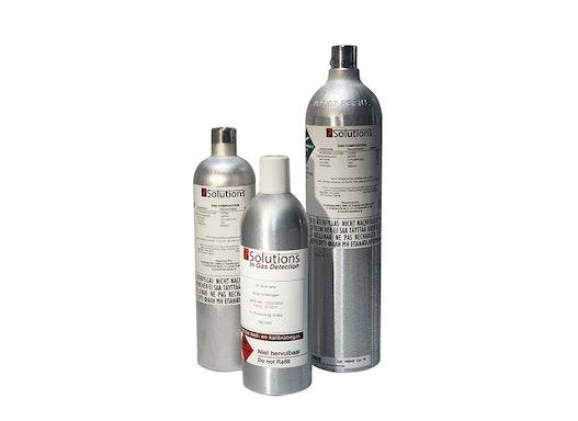 Prüfgas - 116 L 15ppm H2S / 50ppm CO / 2% CO2 / 2,5% CH4 / 18% O2 in Stickstoff (N2) - Kalibriergas