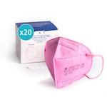 Atemschutzmaske FFP2, pink, einzeln verpackt, CE