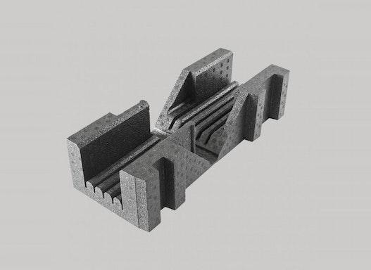 EPP-Glasschutzecke mit variabel verstellbaren Winkeln