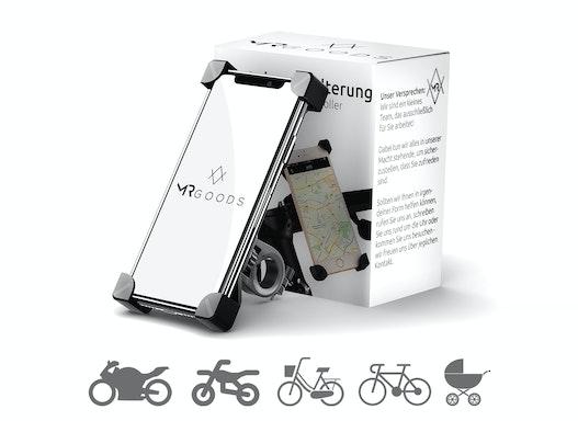 Smartphone Halterung – Handyhalter für Fahrräder  Motorräder Roller & Kinderwagen – Handyhalterung