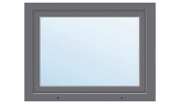 Kunststofffenster 1-flg. ARON Basic weiß/anthrazit 950x800 mm DIN Links