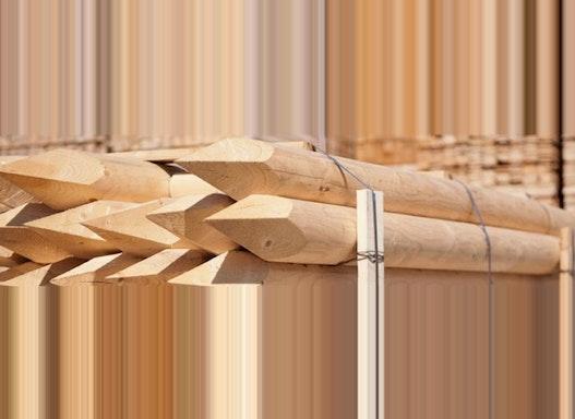 Palisaden aus Holz  / Holzpalisaden