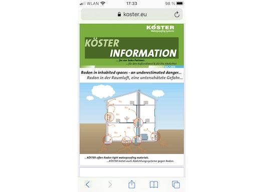 Abdichtungssysteme gegen Radon