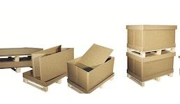 System - Komplettverpackung, 3-wellig, 2-wellig, Alles in einem ohne Werkzeug, Mehrweg