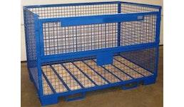 Industrie-Gitterboxen mit Klappe an Längsseite