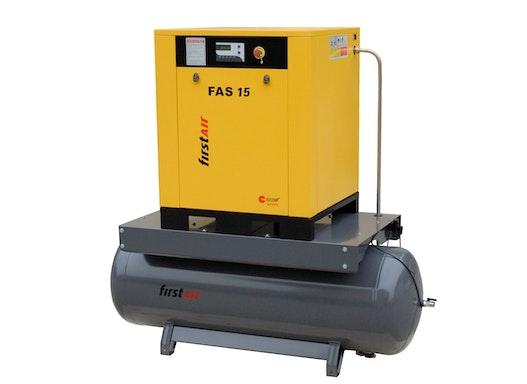 firstAir Schraubenkompressor FAS-R 15 mit 270 Liter Druckluftbehälter, 15,0 kW Nennleistung