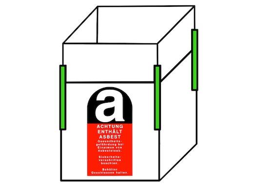 Asbest Big Bag 110x110x115cm,SWL 1500kg,SF:5:1