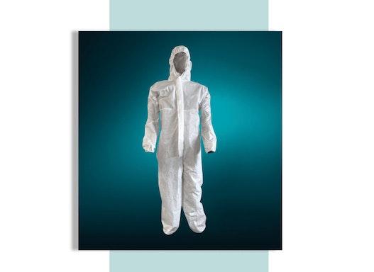 Schutzoverall für Arbeiten im Umgang mit gefährlichen Materialien oder verschmutzten Umgebungen