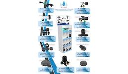 Verkaufsdisplay/ Aufsteller von IBC Produkten befüllt für Ihren Markt