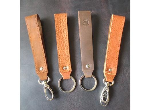 Schlüsselanhänger Leder -Premium