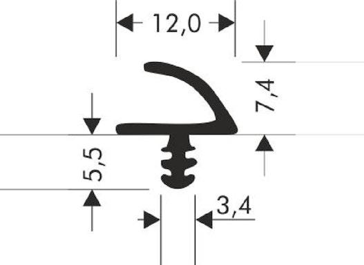 Zimmertürdichtung R-915