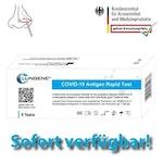 """Schnelltest COVID 19 """"Clungene"""" Selbsttest für Laien für Rachen & Nasenabstrich 5er Pack"""