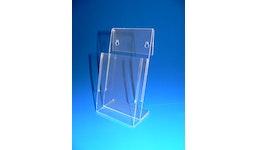 Prospektständer aus Acrylglas, Acryline, Prospektständer A6/5 aus Acrylglas