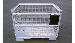 Gitterbox [Gitterpalette, DB-Gitterboxpalette, Palette mit Bahnzeichen]