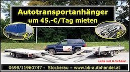 Autotransportanhänger um 45. -€/ Tag mieten ! von 1020-2800Kg B&B Anhängerverleih