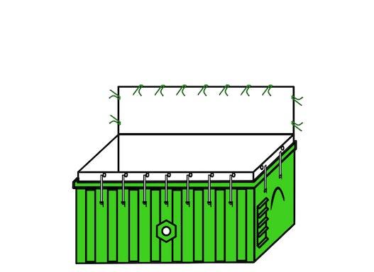 Containerbag 620x240x115cm (17m³)