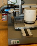 CNC-Maschine für Gravuren an Drehteilen