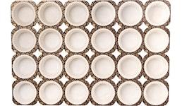 Muffin weiß im Tray, 24 Stk. im Tray, 5 x 3,5 cm