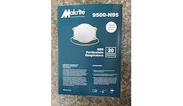 Makrite N95 N95-9500 medizinische Atemschutzmaske NIOSH