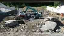 Aushub und Bau von Kanalanlagen