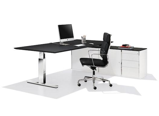 Elektrisch höhenverstellbarer Schreibtisch - Steh-Sitztisch - ergo 4