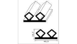 Kühl- und Gefrierschrank-Ersatzdichtung - Profil Nr. CGK-40