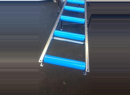 Rollenbahn mit Kunststoff- oder Stahltragrollen