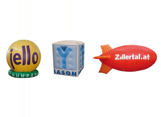 Sky Ads, Heliumballone und Luftschiffe, Werbezeppelin