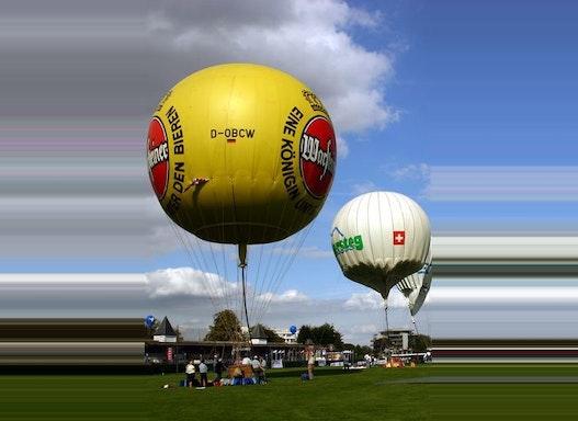 Netzlose Gasballone / Sportballone