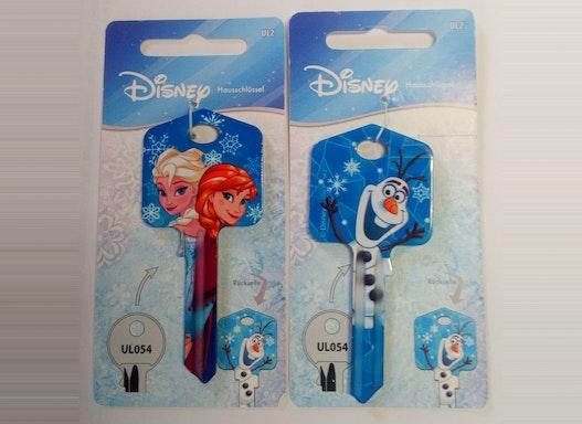 Keyline Hausschlüssel UL054 mit verschiedenen Disney-Motiven