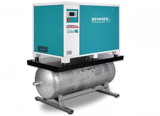 RENNER SCROLL-Kompressor SLDM-S 7,5 mit 500 Liter Druckluftbehälter