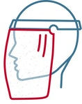 Folie für Gesichtsschutzschirm Face Protection Spartech Cellulose Acetate
