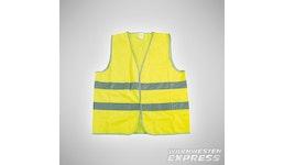 Warnweste - High Visibility Sicherheitsweste mit silber/grauer Paspel