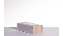 Falthandtücher 1-lagig natur für neuen Spender, 20,3 x 24 cm