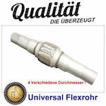 Flexrohr kurz -Universal , Flexibles Auspuff Rohr