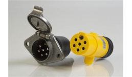 Spidy Luftkombinationsdose 12/24 V mit eingebautem Rückschlagventil fahrzeugseitig