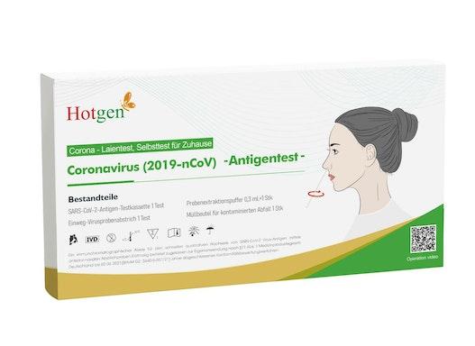 HOTGEN Laientest - Einzelverpackung, Coronavirus (2019-nCoV)-Antigentest