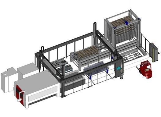 Laserautomatisierung Flachbettlaser Astes4