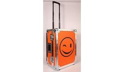 Flightcases bedruckt, bedruckte Holzkiste mit Aluminiumprofilen, Flight case mit Schaumstoff