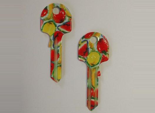 Keyline Hausschlüssel UN5DF mit verschiedenen Blumen-Motiven