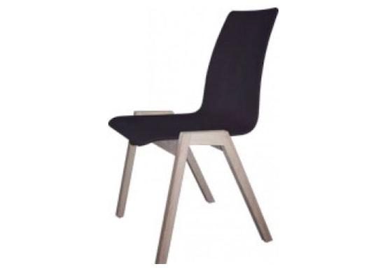 Objektstuhl / Holzstuhl / Massivholzstuhl LH-41000 mit Kunststoffschale