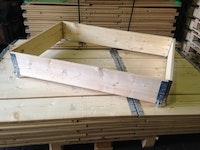 beschriftete Holzaufsatzrahmen