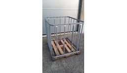 IBC GB 1000L Holzpalette Senkrecht Gitter