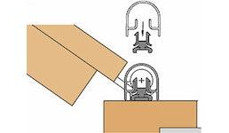 BUK Athmer Fingerschutzprofile - Bandseite -  Querschnitt