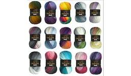 Wollbiene Batik Farbverlaufswolle