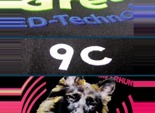 Textildruck: Flockdruck, Siebdruck, Fotodruck, Sublimation, Golddruck / T-Shirt Druck / Textil Print / Textilveredelung