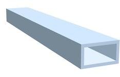 Aluminiumrechteckrohr eloxiert