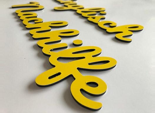 3D - Alu-Verbund-Buchstaben   Verbundbuchstaben   Alu-Verbund   3mm stark